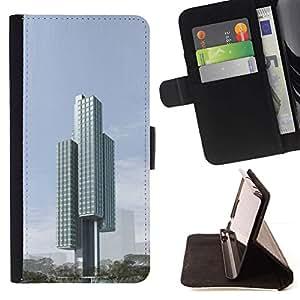 Momo Phone Case / Flip Funda de Cuero Case Cover - Arquitectura Moderna Ciudad Bloquear - Samsung Galaxy S6 EDGE