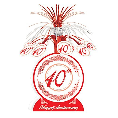 Anniversary Party Centerpieces - 40th Anniversary Centerpiece Party Accessory (Value 3-Pack)