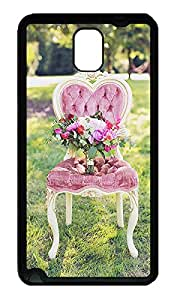 Samsung Galaxy Note 3 Cases - Summer Lovely Customize The chair of flowers TPU Black N9000 Cases