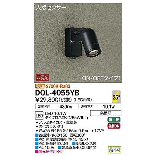 大光電機:人感センサー付アウトドアスポット DOL-4055YB B01N5HVP1T