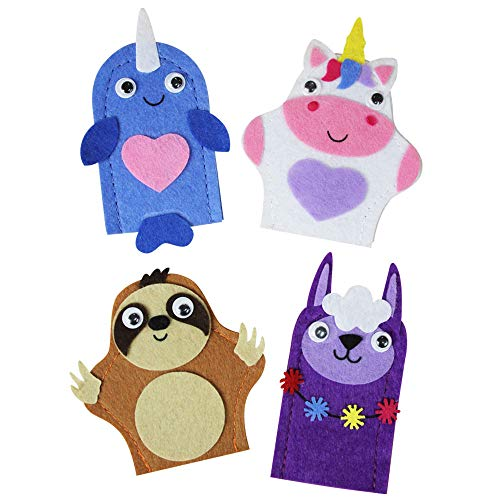 Kipp Brothers Pack of 12 DIY Finger Puppet Craft Kits for Kids
