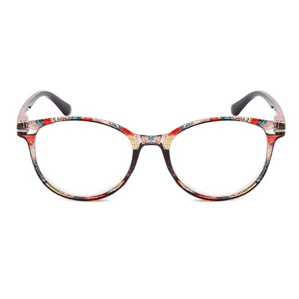Inlefen Occhiali da lettura con montatura ovale per uomo e donna con design floreale Occhiali da lettura per lettori moda - Scegli il tuo ingrandimento