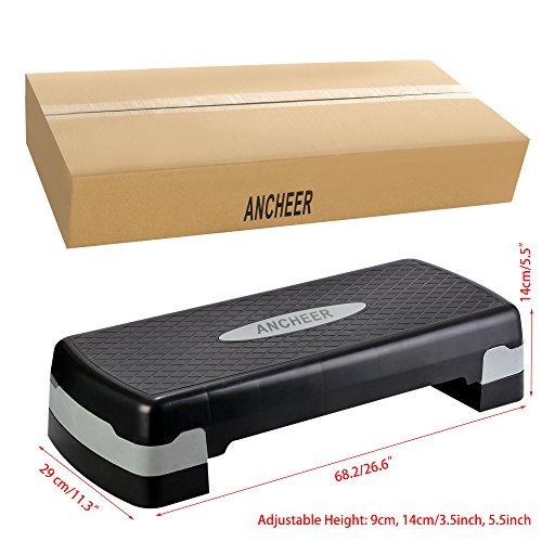 Ancheer Fitness Step for Gym Exercise Workout, Aerobic Stepper Platform Adjustable