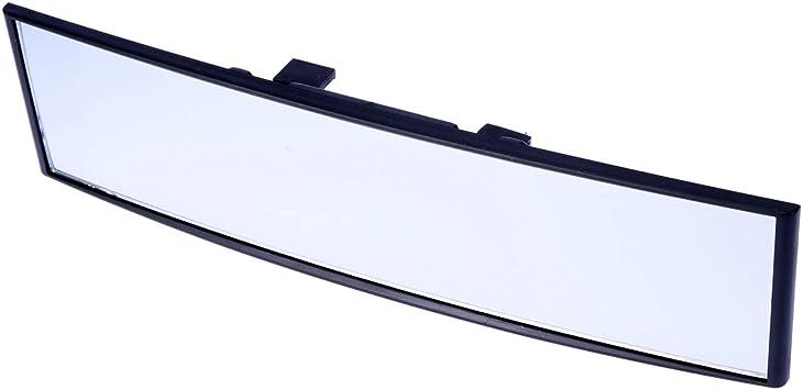 Vosarea Universal Rückspiegel Für Autos Weitwinkel Panorama Blendfrei Für Den Innenbereich Großer Sicht Gebogener Spiegel 300 X 75 Mm Weiß Auto