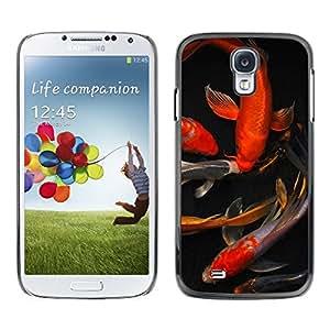 Planetar® ( Koi Goldfish Pond Golden Red Black ) Samsung Galaxy S4 Fundas Cover Cubre Hard Case Cover