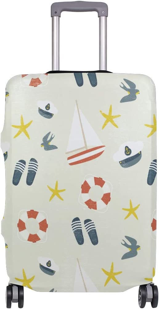 Travel Luggage Cover Salor Elements Lifebelt Cap Starfish Ship Suitcase Protector