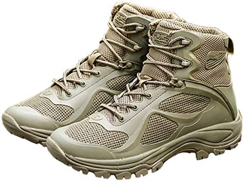 WQLESO Jungle Tactical Sicherheits Armee Schuhe Herren Special Forces Police Training Arbeitsstiefel Outdoor-Off-Road Leichtbau Military Boots,Green-39