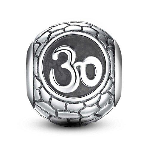(Lovans 925 Sterling Silver 30th Birthday Celebration Charm Fit Pandora Bracelets)