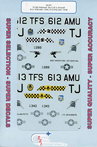 Superscale Decals 1:32 F-16C Falcons Sq C.O.