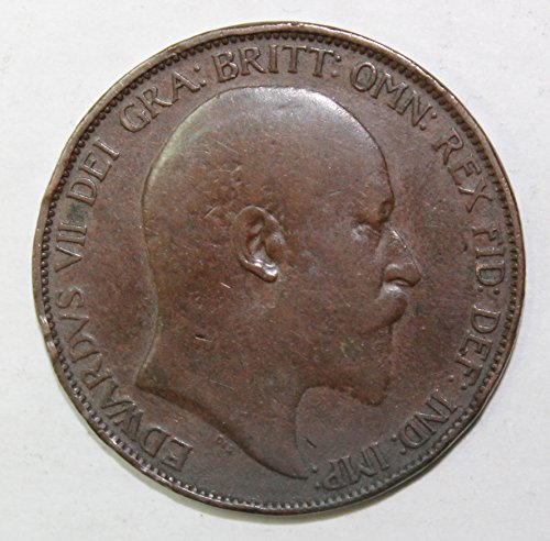 1902 UK King Edward VII One Large Penny XF