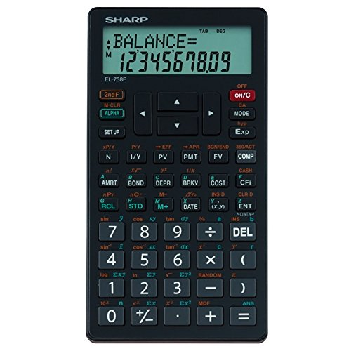 Sharp EL-738F Financial Calculator Business Calculator EL738F by Sharp