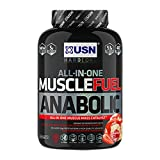 USN Muscle Fuel Anabolic Lean Muscle Gain Shake Powder - Strawberry, 2 kg
