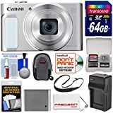 Canon PowerShot SX620 HS Wi-Fi Digital Camera (Silver) with 64GB Card + Case + Battery + Charger + Power Bank + Sling Strap + Kit