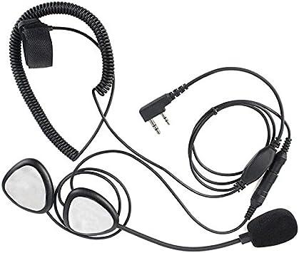 SODIAL Noir ecouteur pour Kenwood TK ecouteur de walkie-talkie R