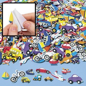 Fabulous Foam Self-Adhesive Transportation Shapes - Art & Craft Supplies & Foam Shapes