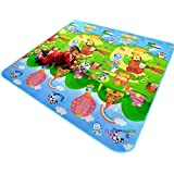200*180*0.5cm Thickness Baby Crawling Mat Baby Crawling Pad/ Game Mat (Large, Happy Farm)