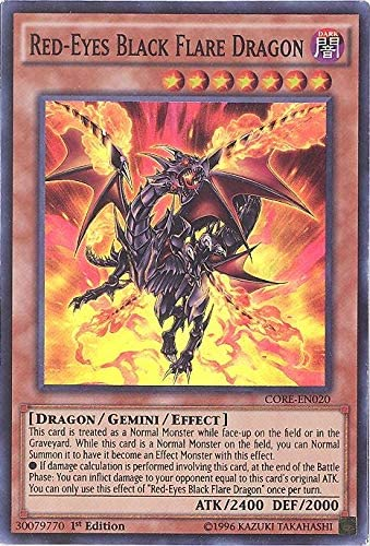 Yu Gi Oh Ojos Rojos Black Dragon Flare Core En020 Choque De Rebeliones Unlimited Edition Super Raro Toys Games