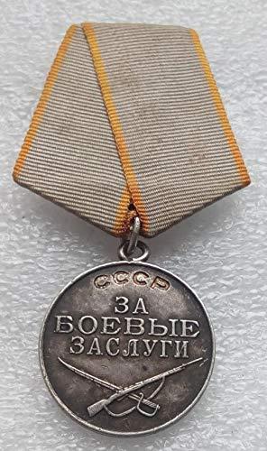 For Battle Merit USSR Soviet Union Russian Military Communist Silver Bolshevik Medal S/N 1475596