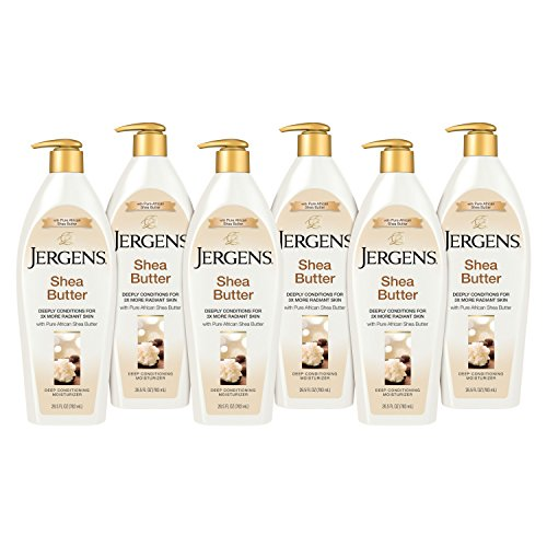 Jergens Butter Moisturizer - Jergens Shea Butter Deep Conditioning Moisturizer, 26.5 Ounces (Pack of 6) (Packaging May Vary)