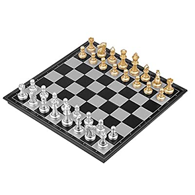 Hooleep Large Magnetic Chess Set, Folding Travel Chess Board Game Set