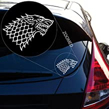 "Starks Banner From the Game of Throne Decal Sticker for Car Window, Laptop, Motorcycle, Walls, Mirror and More. # 522 (6"" x 8"", White)"
