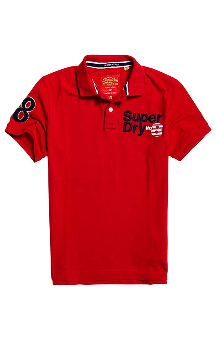 Superdry Clssc CNY Suprstate Pique Polo, Rojo (State Red Zi3 ...