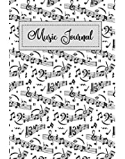 Music Journal: Blank Sheet Composition Notebook Manuscript Paper Lyric Diary Great For Song Writing size 6x9 Inches Black and white style