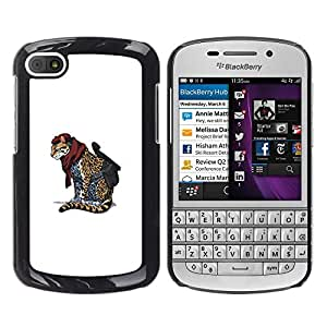 Stuss Case / Funda Carcasa protectora - Cheetah Warrior - Cool Cat Cute Funny Animal - BlackBerry Q10