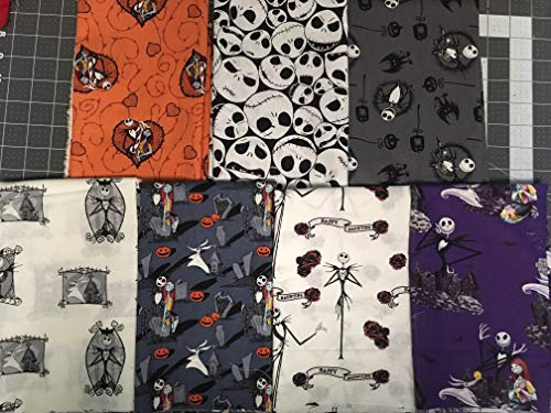 The Nightmare Before Christmas ~ Cotton Fabric FQ -or- Squares from Kristmas in July