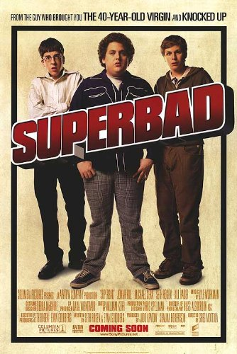 (Superbad Intl Movie Poster Double Sided Original 27x40)