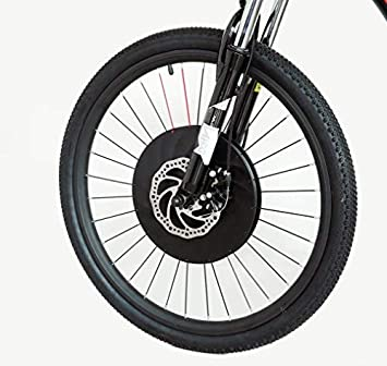 Imortor All in One Front Wheel Electric Bike Conversion Kit 36v 240W With  Battery USB Phone Holder