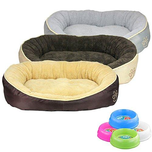 Waschbares Flauschiges Hundebett S, M, L, XL für Hund und Katze Katzenbett Hundekissen Katzenkissen Tierkissen in 3…