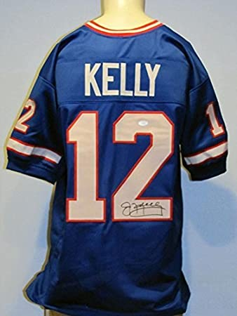 ad6b2697be1 Jim Kelly Autographed Signed Bills Blue Jersey at Amazon's Sports ...
