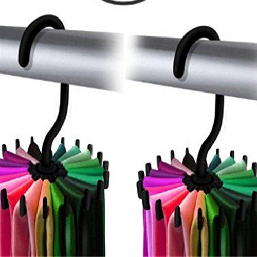 Generic 2016/Nuevo ganchos giratorio Tie Rack para percha para port/átil Tie estante gancho de la percha con organizador decorativo ganchos
