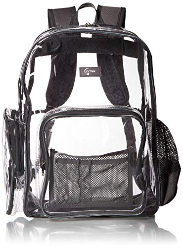 ar Backpack with Laptop Sleeve and Security Pocket,Sturdy Stitches Using Durable Military Grade Nylon, Transparent/Unisex for School, Work,Stadium,etc. (Large) ()