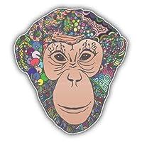 Colorful Monkey Head Vinyl Decal Sticker Car Decal Bumper Sticker for Use on Laptops Windows Bottles Laptops Windows Scrapbook Luggage Lockers Cars Trucks