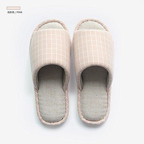 fankou donna la estate casa 21CM antiscivolo rosa pantofole chiaro in da da 220 casa cotone in uomo pantofole per Pantofole cotone nrw7Pxqr