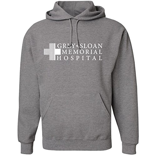 NuffSaid Grey Sloan Memorial Hospital Hooded Sweatshirt Sweater Hoodie Pullover - Premium Quality (Small, Grey)