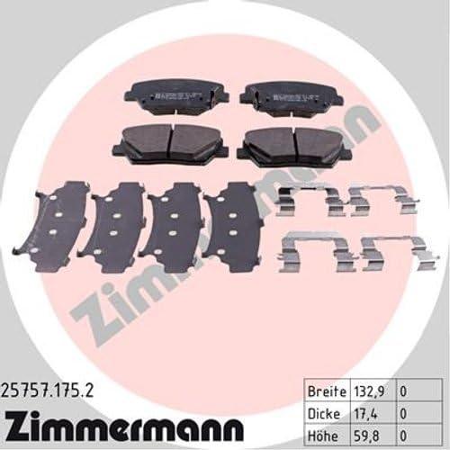 ZIMMERMANN Bremsbelagsatz 25757.175.2