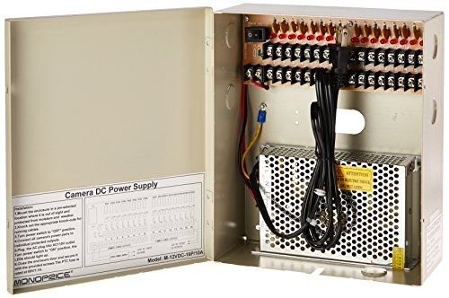 monoprice-16-channel-cctv-camera-power-supply-12vdc-10amps