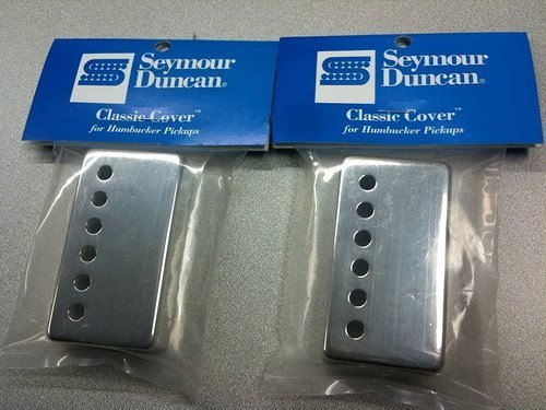 - Seymour Duncan Classic Cover Nickel Silver Humbucker Pickup Covers Pair of 2