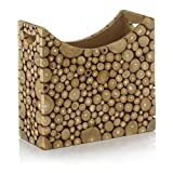 Modern Day Accents Ramita Teak Magazine Holder