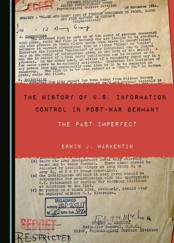 The History of U.S. Information Control in Post-War Germany pdf epub