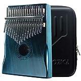 Moozica 17 Keys Kalimba Marimba, Solid Mahogany Wood Professional Thumb Piano Musical Instrument Gift (Mahogany-K17MB)