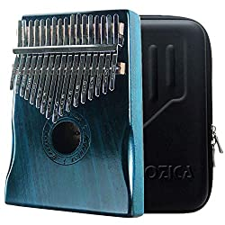 Moozica 17 Keys Kalimba Marimba, Professional Thumb Piano Sanza Mbira Musical Instrument Gift (Mahogany - K17BL)