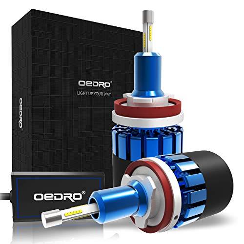 OEDRO H11 LED Headlight Bulb Conversion Kit H9 4-side Patch LED Headlights H11 H9 Headlight Bulb 8000Lm Super Bright H11 H8 Led Bulb Fog light 6000K Xenon White 2-Year - Assembly Socket Lx Led