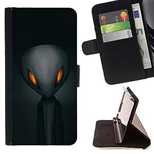 For Samsung Galaxy S6 Active G890A Case , Extranjero Gris Espacial Hombre Negro- la tarjeta de Crédito Slots PU Funda de cuero Monedero caso cubierta de piel