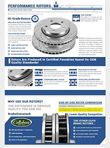 Callahan CDS02229 FRONT 330mm + REAR 330mm D/S 5 Lug [4] Rotors + Ceramic  Brake Pads + Clips [Infiniti G35 G37 G37X Q60]