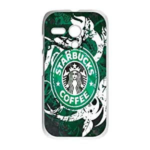 Starbucks Coffee Print Motorola G Cell Phone Case White bpga