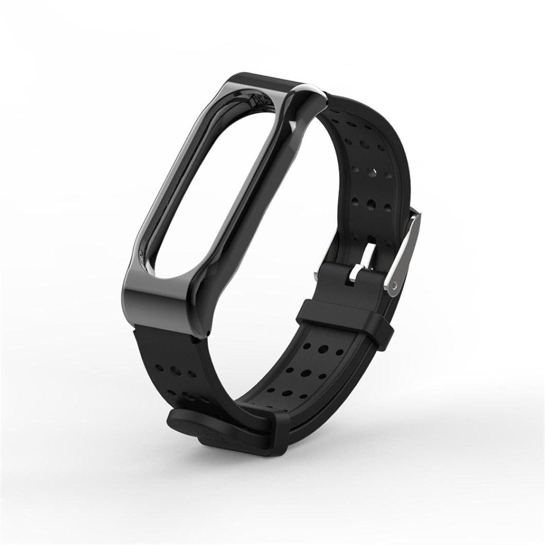 For Xiaomi Mi Band 2腕時計ストラップ、Silicom耐久性防水anti-off交換用リストバンドスポーツブレスレット  B078S9KHKG